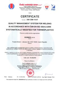 thumbnail of Certificate Welding of Thermoplastics