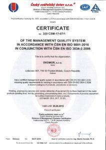 thumbnail of Certificate welding of metals